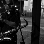 Saxaphone player performing live jazz music at Ball & Chain