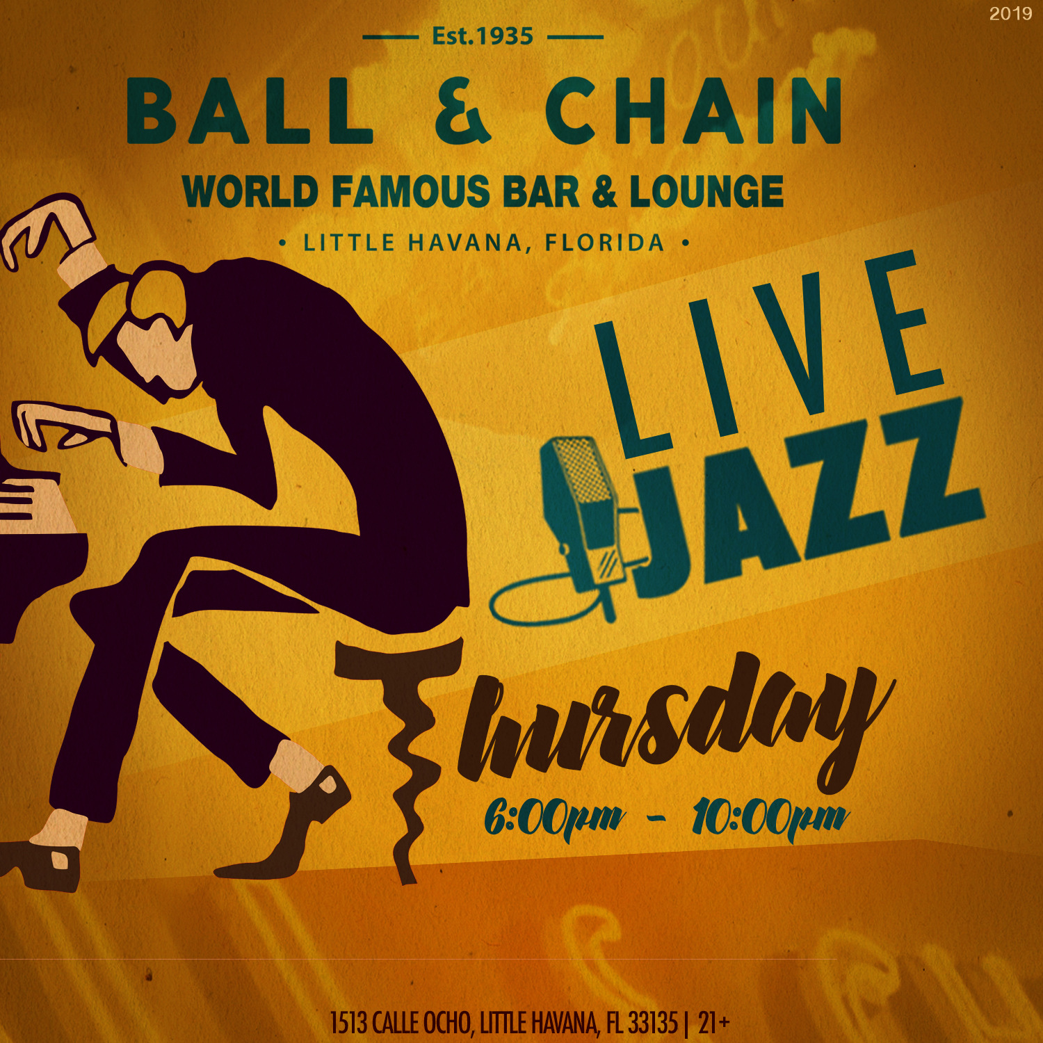 Live Jazz every Thursday at Ball & Chain